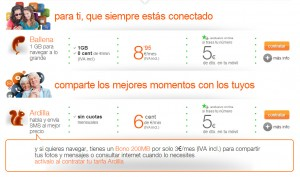 Orange simplifica su prepago, aún sin 4G